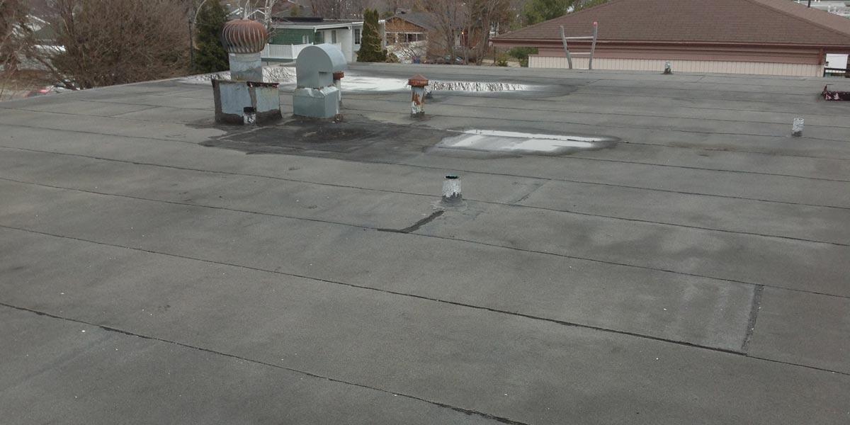 Inspection de toiture - drain bouché