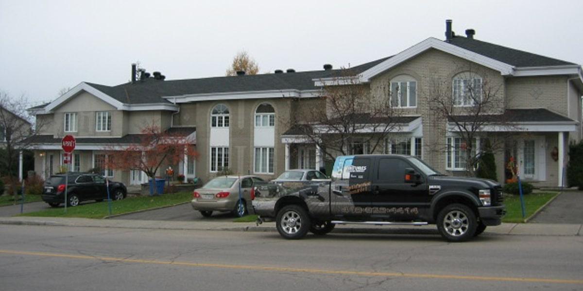 Rénovation toiture, toit en pente, Québec