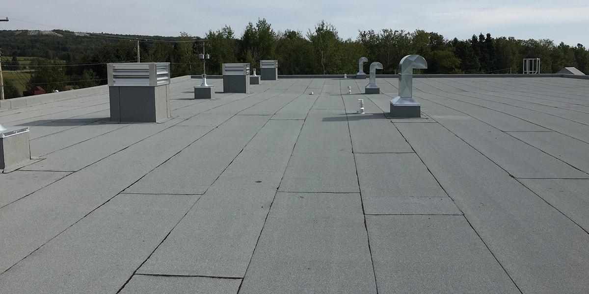 Rénovation toiture, toit plat, Ste-marie de beauce