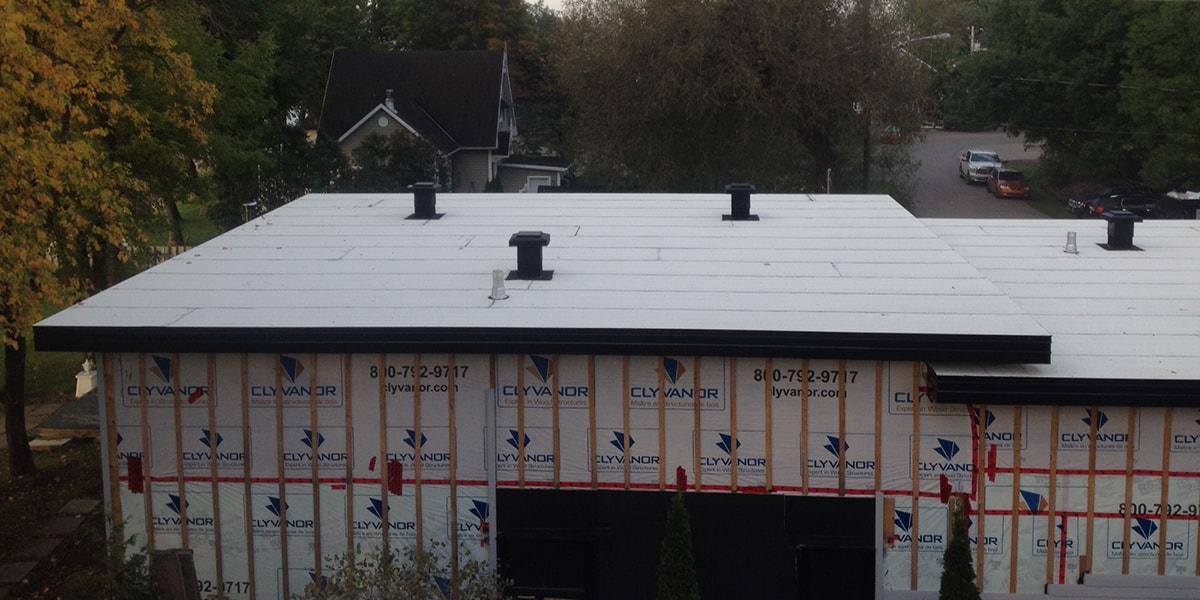 Construction toiture neuve, Neuville