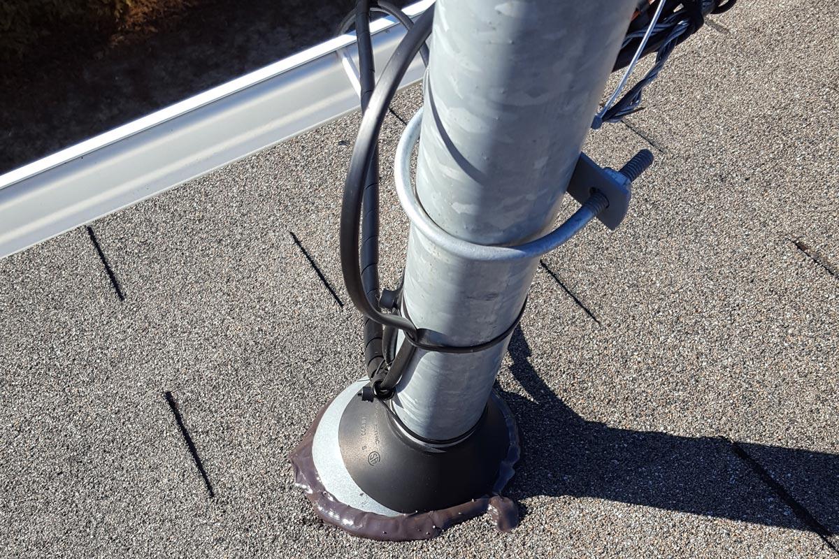 Inspection de toiture - entrée électrique