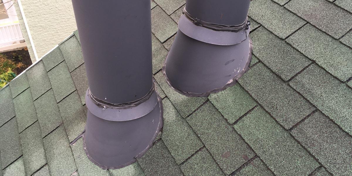Inspection de toiture - joint de périmètre cheminée