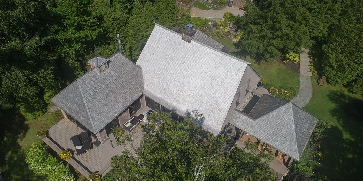 Rénovation, toit en pente, Lac Beauport